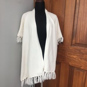 Gap off white poncho. One size worn once.